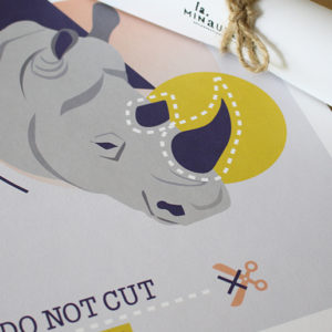 Do Not Cut – Affiche A4 Rhinocéros