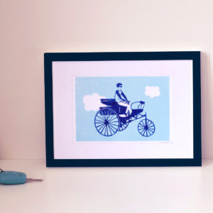 TRICYCLE – Linogravure A5