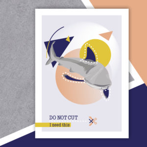 Do Not Cut – Affiche A4 Requin