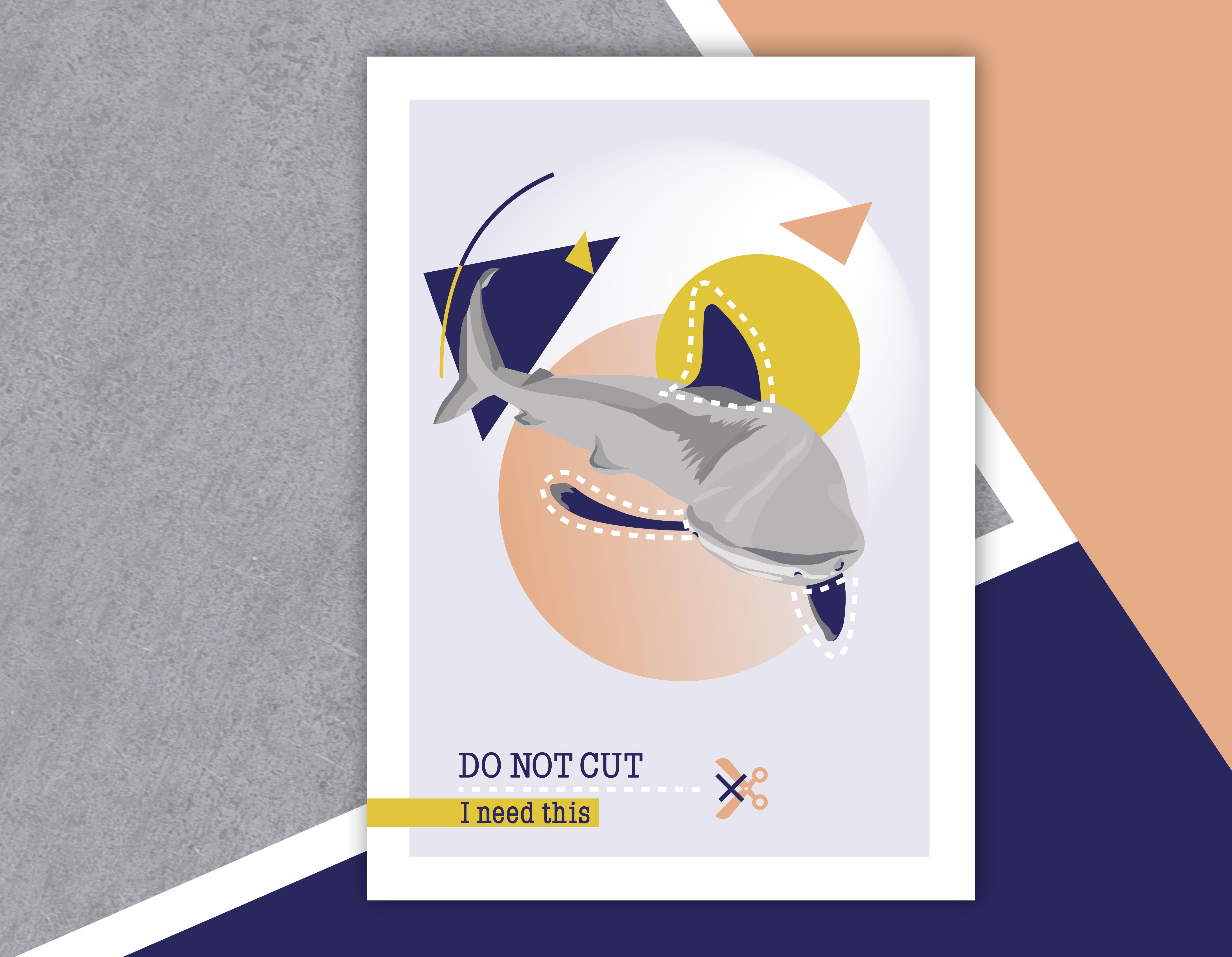 Do Not Cut – Affiche A4 Requin
