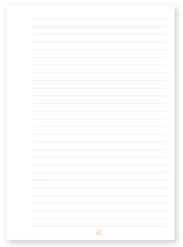 Lot de 120 pages lignées